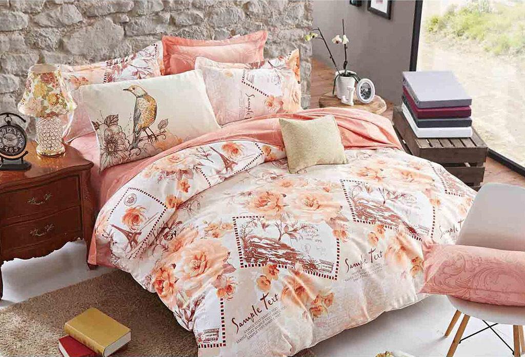 Romantic Paris Queen King Super Größe Bed Duvet Doona Quilt Cover Set M286