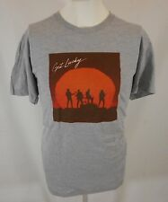 Get Lucky gray Daft Punk American Apparel T-shirt L New Random Access Memories