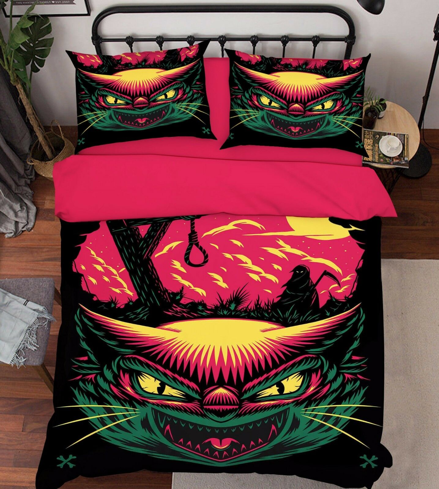 3D Vicious Owl Painting 41 Bed Pillowcases Quilt Duvet Cover Set Single Queen CA
