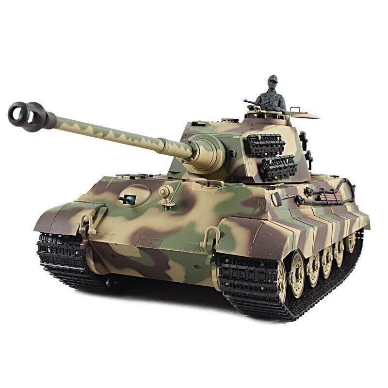 2.4G Henglong 1//16 Scale 6.0 Plastic German King Tiger RTR RC Tank Model 3888A