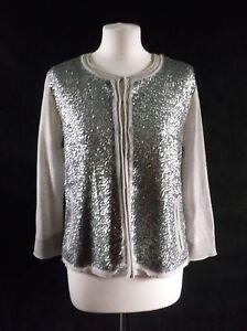 6a88944bcb661 Ravishing MINT VELVET fine wool sequin hook and eye cardigan light ...