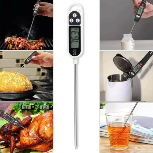 Kitchen Digital Thermometer Meat Cake Candy Fry Food Cooking Food Probe BBQ Milk