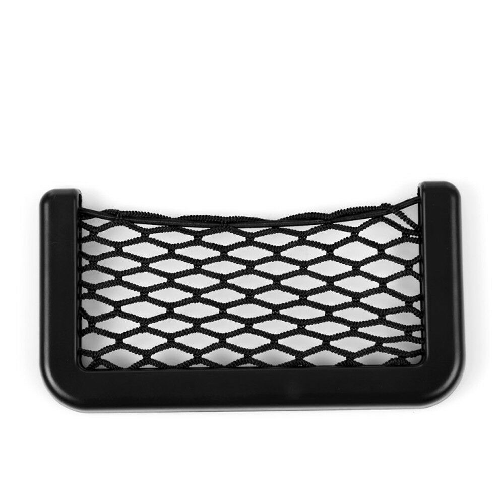 1x Car Interior Door Edge Elastic Net Storage Phone Card Pen Organizer Holder