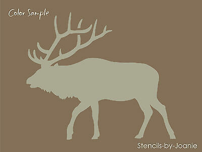 Rustic Animal STENCIL Elk Walk Bull Hunt Outdoor Mountain Lodge Cabin Art Signs