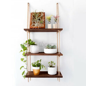 Wall-Mounted-Floating-Shelf-Display-Home-Rope-Wooden-Hanging-Storage-Rack-Decor
