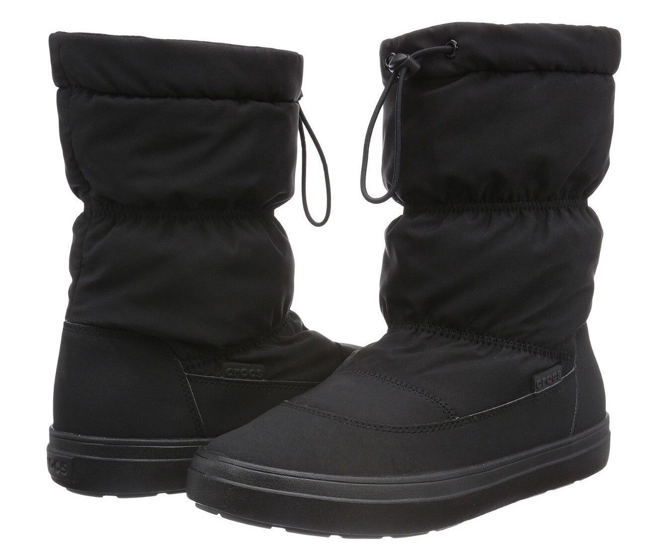 Crocs Women's LodgePoint Pull-on Black Boot (303422-001) - Size 6 NWOB