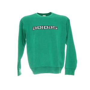 Details zu Vintage Adidas Sweatshirt Größe S Retro Pullover Pulli Grün Langarm Stickerei