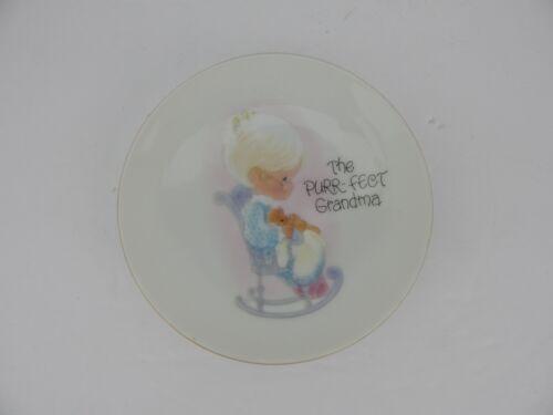 Precious Moments The Purr-Fect Grandma 4 Inch Decorative Plate New 558F