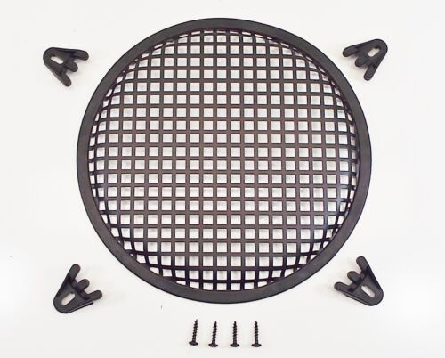 "10/"" Round Waffle Style Woofer Subwoofer Speaker Grille Cover w// 4 Clamps"
