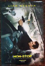 NON-STOP Movie Poster 27x40 DS Authentic Liam Neeson