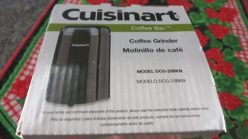 NEW Black Color Model # DCG-20BK Cuisinart Coffee Bar Coffee Grinder