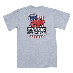 2019-Cruisin-Ocean-City-official-car-show-t-shirt-athletic-gray-MD-patriotic