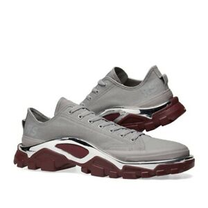 new concept aba9b b7c18 Image is loading ADIDAS-X-RAF-SIMONS-DETROIT-RUNNER-GREY-MAROON-