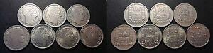 IVeme-Republique-lot-de-x7-10-Francs-Turin-millesimes-differents