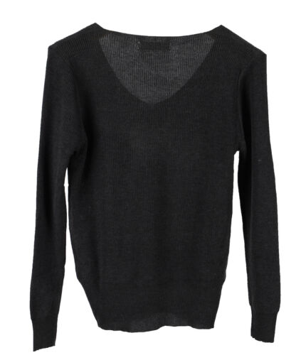 Winter Women Knit Warm Sweater Slim Fit V-Neck Soft Classic Tops Blouse