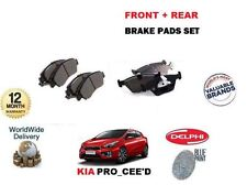 FOR KIA PRO CEED 1.6 1.6TD 2012-  FRONT + REAR BRAKE PADS SET