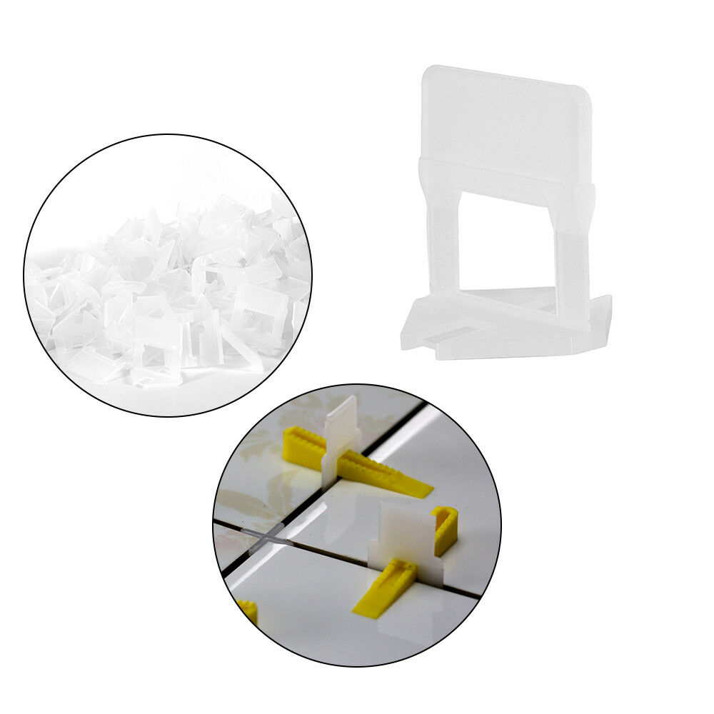 800pcs 1mm Tile Gap Wider 3.8cmx3.8cm Sized PE Plastic Clips Tile Leveling Tool