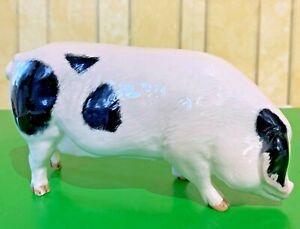ROYAL DOULTON PIG GLOUCESTER OLD SPOT PINK & BLACK GLOSS MODEL No DA 230 PERFECT