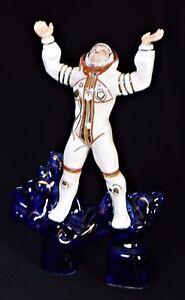 Russian-Porcelain-Figurine-Porcelain-Cobalt-UdSSR-CCCP-COSMONAUT-COSMOS
