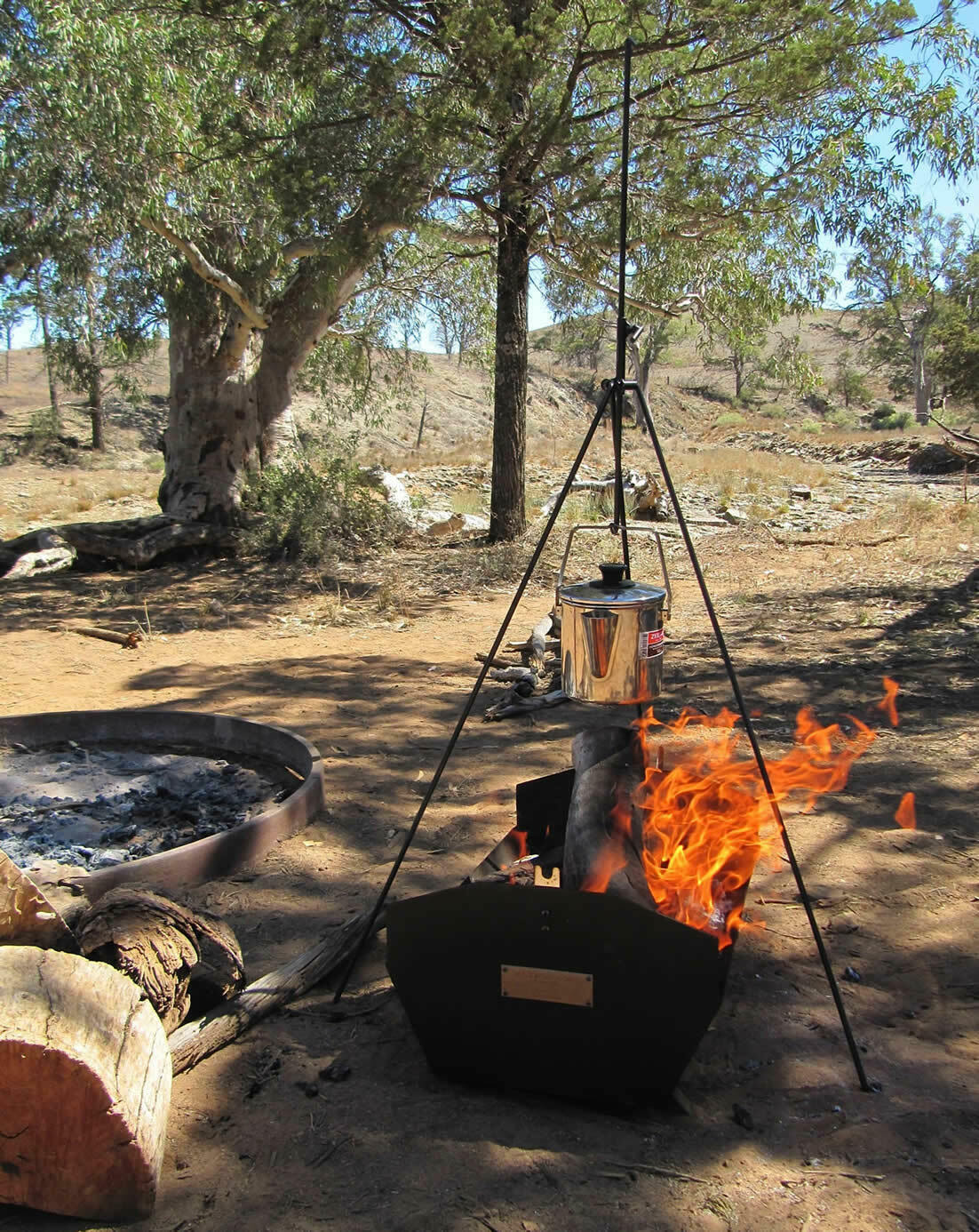 Boss 4WD  Billy Boss Adjustable Campfire Tripod - Australian Made + Storage Tube  low prices