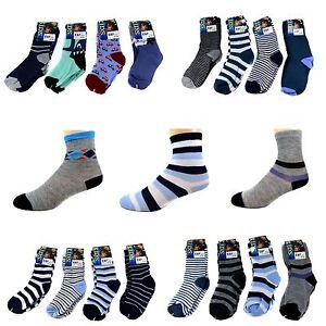 12-Paar-Kids-Jungen-Socken-Kinder-Struempfe-90-Baumwolle-Bunt-Gr-23-38