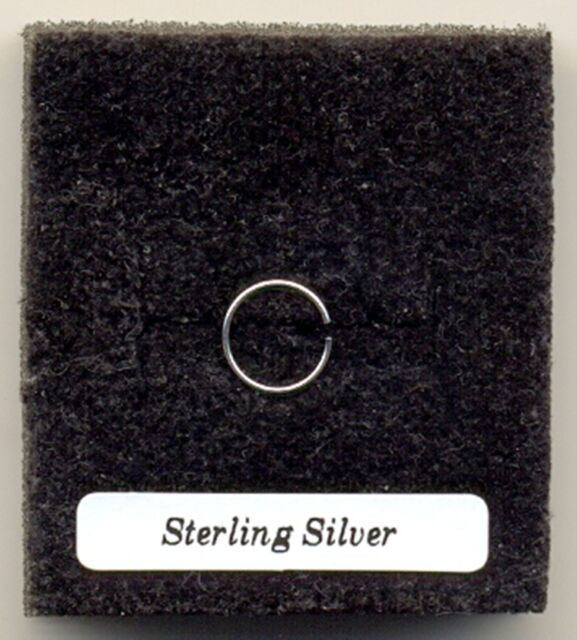 Small Plain Nose Ring 8mm Sterling Silver 925 Nose Stud Very Thin