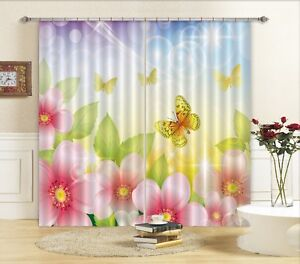 3D-Nice-Spring-Blockout-Photo-Curtain-Printing-Curtains-Drapes-Fabric-Window-AU