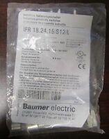 Baumer Electric Ifr 18.24.15/s12/l Inductive Proximity Sensor Ifr 18 24 15 S12 L