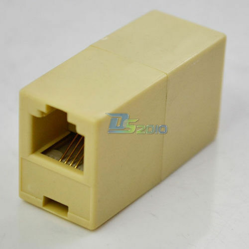 Telephone Phone Line Cord Cable Coupler Connector Socket RJ-11 Adapter Practical