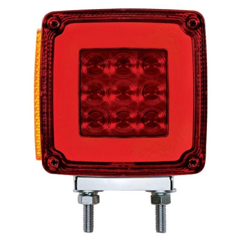 led square double face halo signal light pair semi truck fender. Black Bedroom Furniture Sets. Home Design Ideas