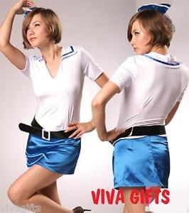 Ladies-Girls-Hostess-or-Pilot-Costume-Sz-12-Quality-Value-Fancy-Dress-Shop