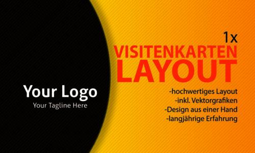 Grafikdesign Dienstleistungen Vorder Rückseite 1x