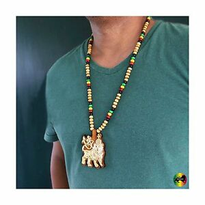 Lion of judah wood necklace large pendant rasta reggae rastafari la imagen se est cargando leon de juda madera collar grande colgante rasta aloadofball Image collections