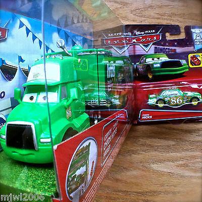 Disney PIXAR Cars CHICK HICKS HAULER & RACER diecast set Piston Cup bundle 86