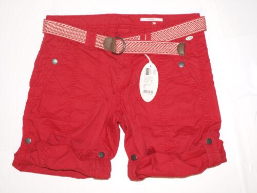 Esprit Bermuda Short 037CC1C004 edc Play Turn up  Rot NEU Red 630 34