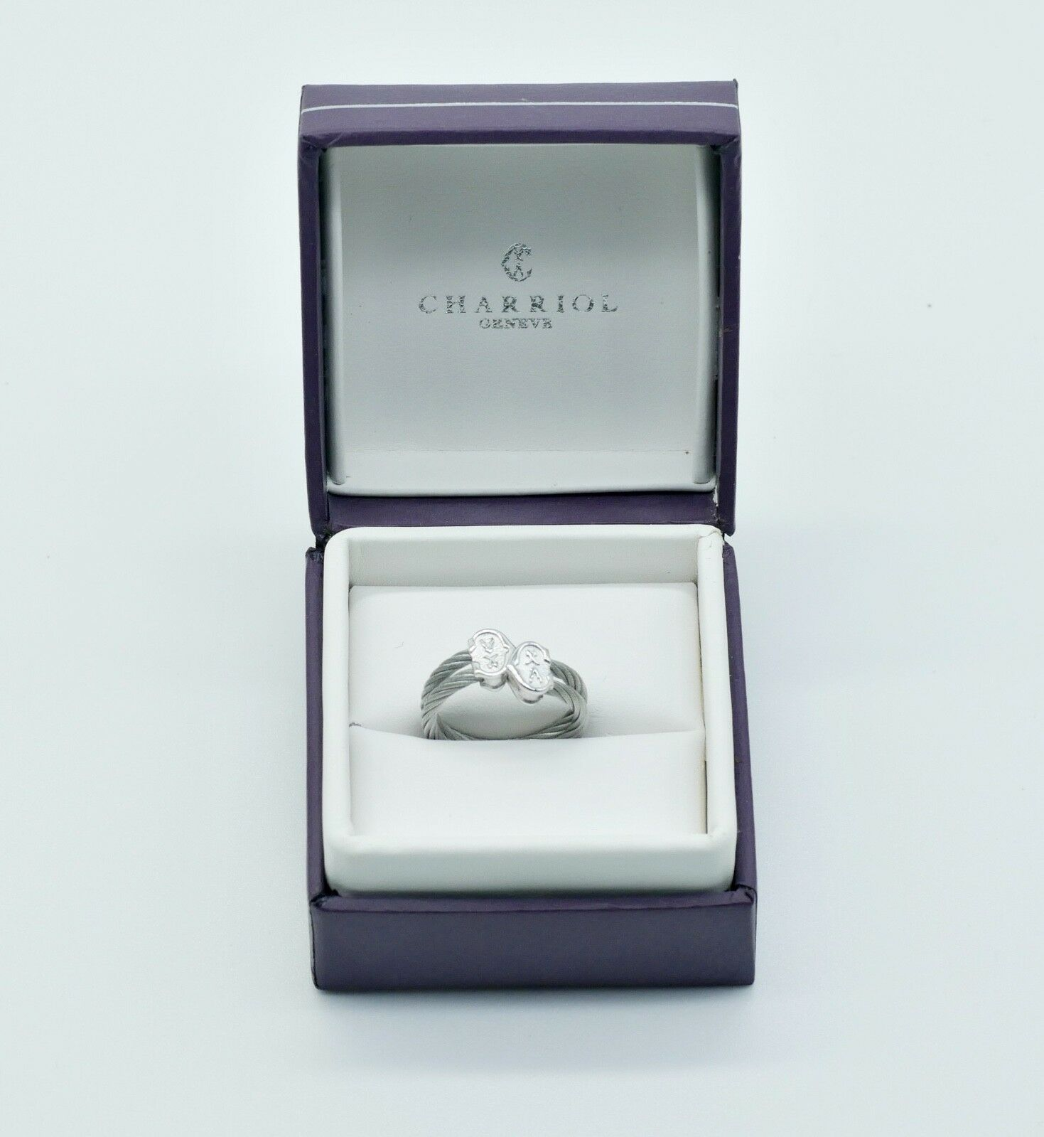 Charriol Anillo 925 Sterling silver Elemento Np. 02231085-0 N256