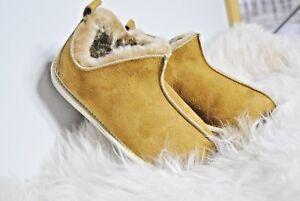 dimensioni le castagno al di regalo caldo tutte naturale Pantofole di caramello con stivaletti lana natalizio wBpq0x6Oq