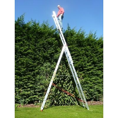Combi/Combination/Stair/Extension/Triple/Double/2 & 3 Section/Multi/Step Ladder