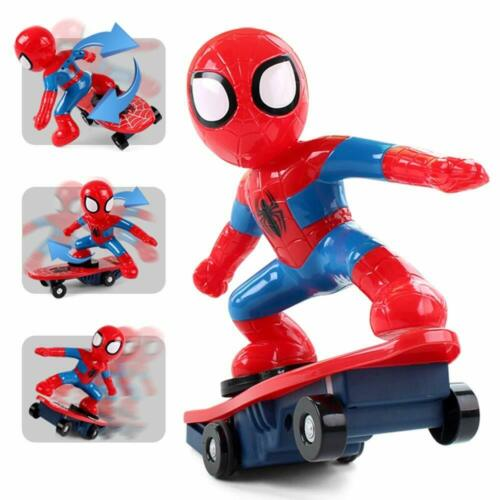 Electric Spiderman Scooter 360° Rotating Kids Toy With Light and Music UK