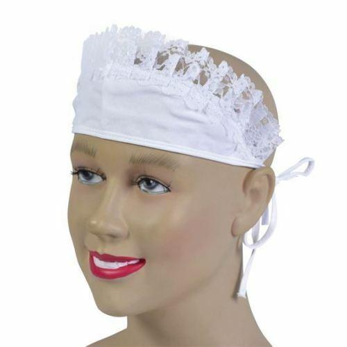 100% Vrai Blanc Français Maids Chapeau Bonnet Victorien Guerre Temps Robe Fantaisie Downton Abbey Chaud Et Coupe-Vent
