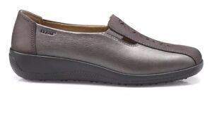 Uk On Shoes Size Casual Exf Womens Slip Calypso 5 Gunmetal 0Zq447