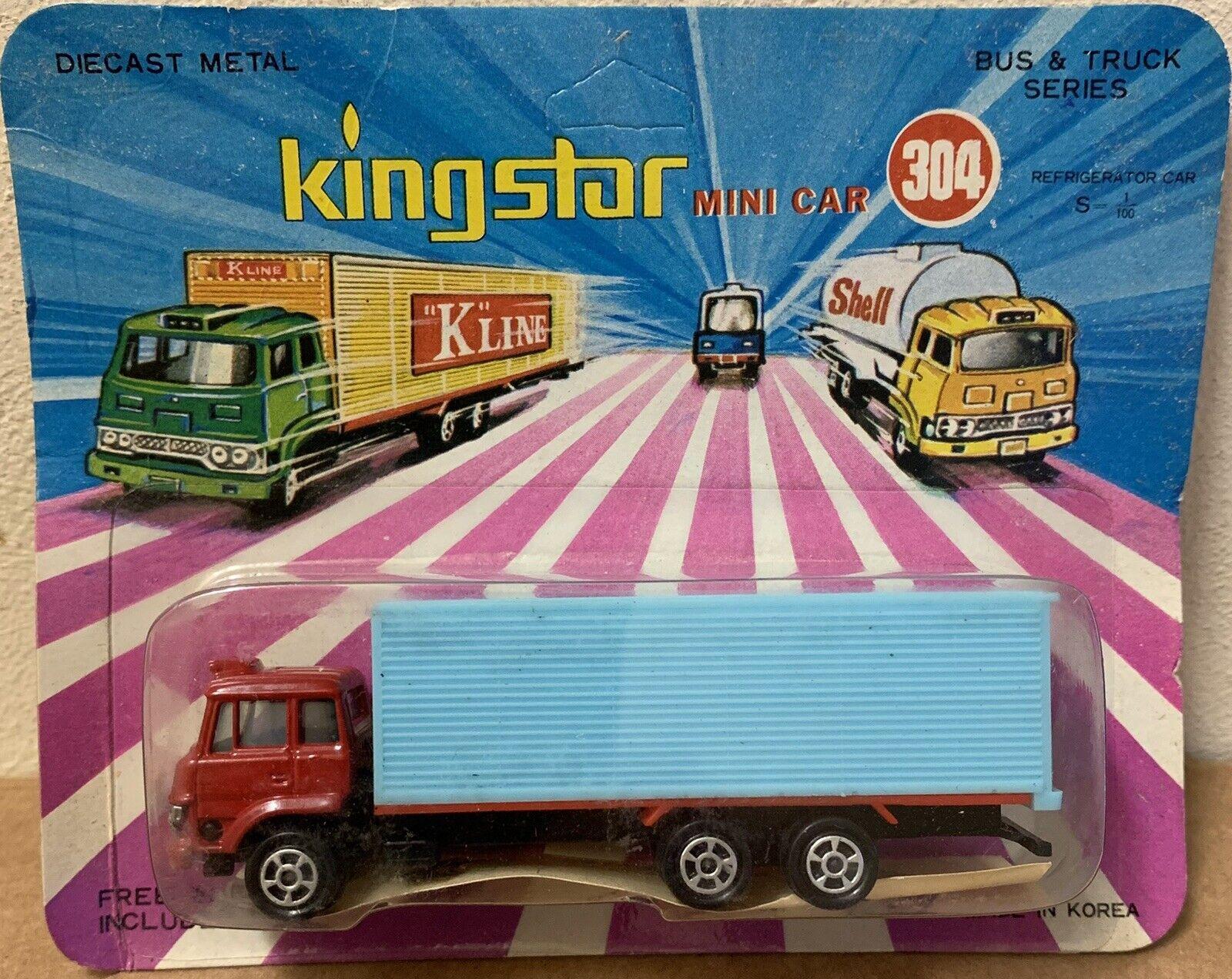 King  Star Mini Voiture 304 RARE Diecast Réfrigérateur camion box 1 100 Corée vintage  centre commercial professionnel intégré en ligne