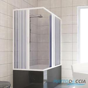 OVER BATH SHOWER ENCLOSURE PLASTIC PVC FOLDING DOORS PANEL CENTRAL ...
