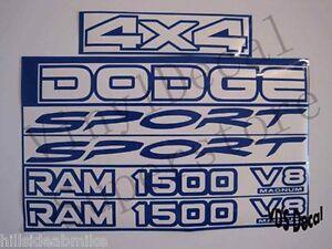 1999 2000 2001 dodge 4x4 ram 1500 v8 magnum sport kit 14 colors ebay. Black Bedroom Furniture Sets. Home Design Ideas
