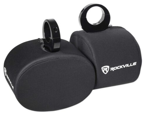 "Pair Rockville RWBC69 Neoprene Covers For 6x9/"" Marine Wakeboard Tower Speakers"