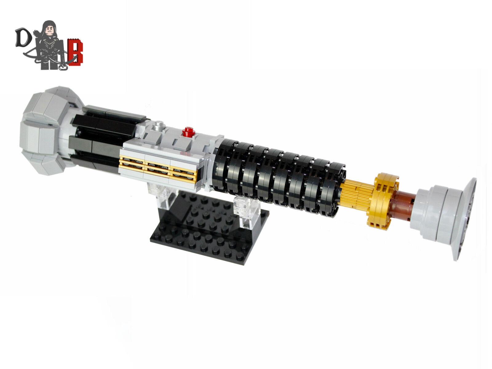 Star Wars Obi-Wan Kenobis Lichtschwert von Rache der Sith unter Verwendung Lego