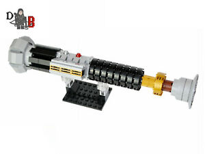 Star Wars Obi Wan Kenobi S Lightsaber From Revenge Of The Sith Made Using Lego Ebay