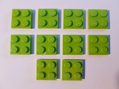 LEGO 20 Pièce Plaque 2x2 Citron Vert 3022 nouveau Lime plaques plate Basic Classic City