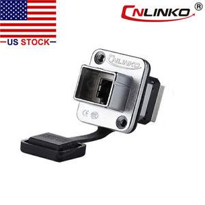CNLINKO-Ethernet-Connector-RJ45-Socket-Panel-Mount-Outdoor-Waterproof-IP67-Metal