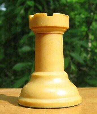 "Vintage Drueke White replacement Rook\ 1 15//16/"" tall\ Model 35 Set\ 3 5//8/"" King"